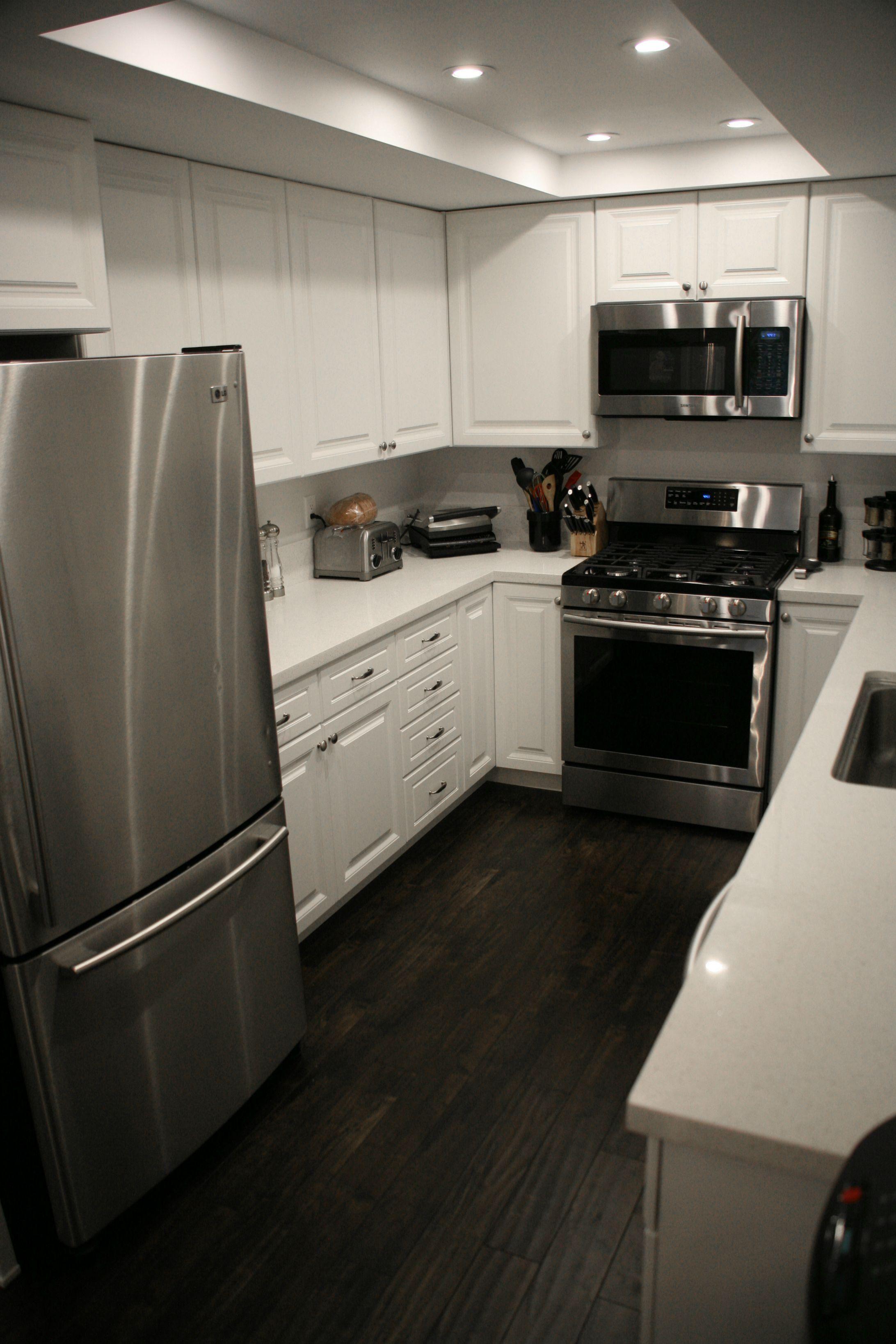 Beautiful Dark Floors Grey Walls Dark Hardwood Floors Kitchen Kitchen Flooring Kitchen Remodel