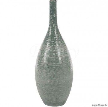 J Line Groene Terracotta Geglazuurde Vaas Aqua Groen Terracotta 65h Span Style Font Size 0 01pt Jline By Jolipa 61318 Vaas Vase Vases On Vazen Vaas Potten