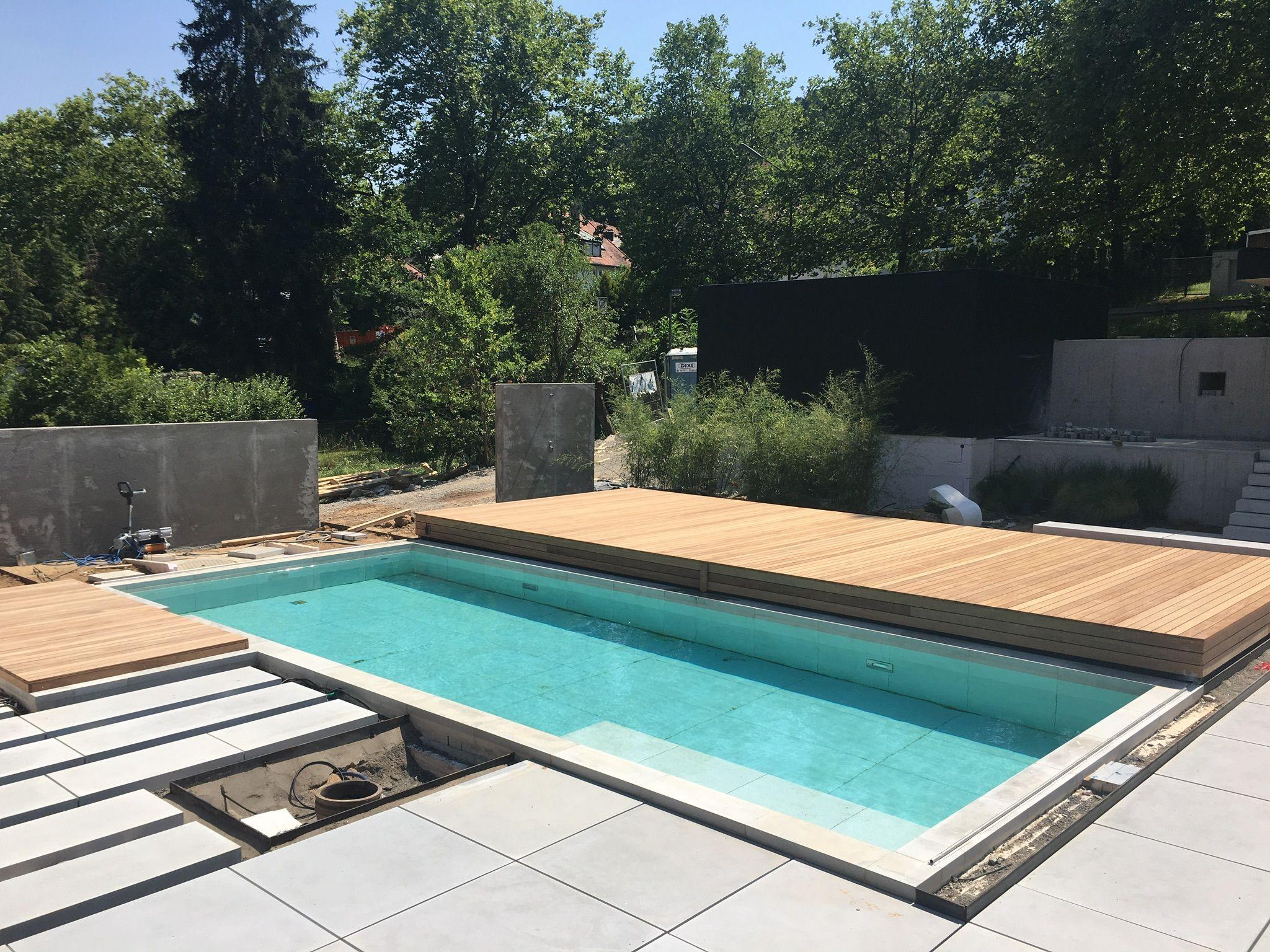 Poolabdeckung begehbar, kleiner Pool im Garten mit Vollabdeckung #poolimgartenideen