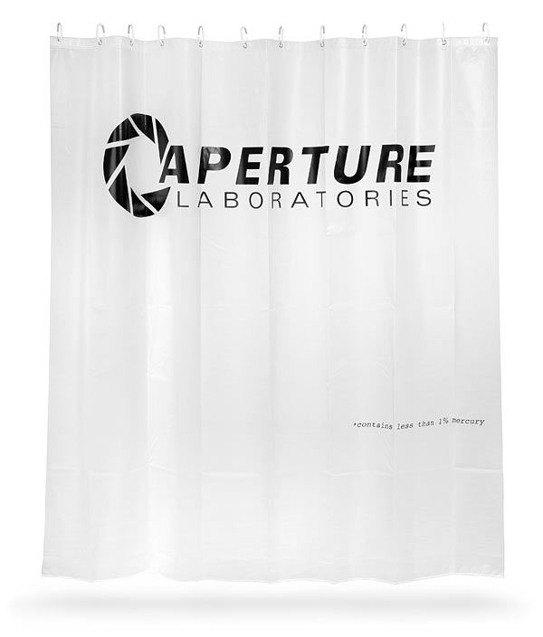 Portal 2 Aperture Laboratories Shower Curtain Awesome
