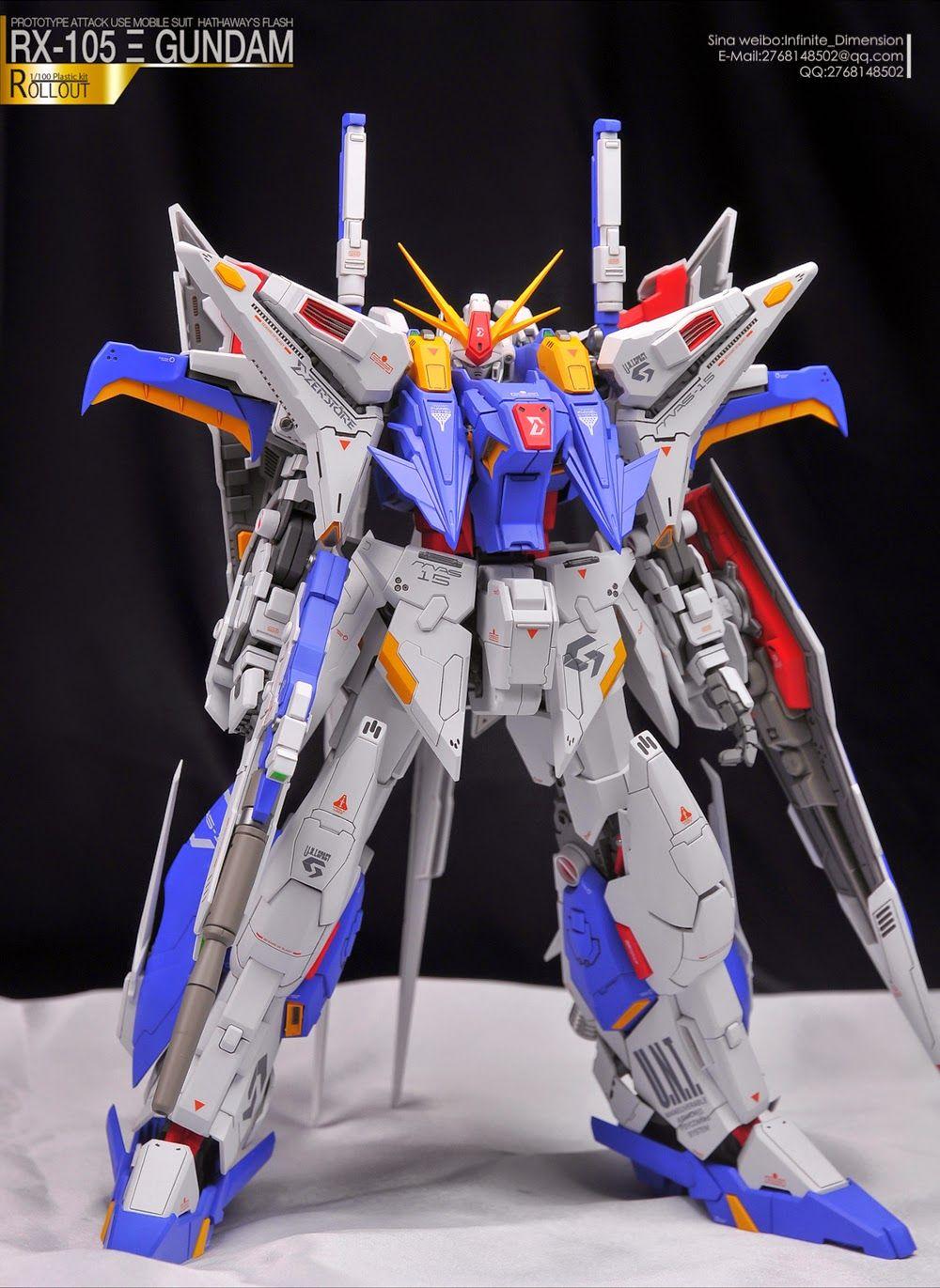 "Custom Build: Mechanicore 1/100 RX-105 Xi Gundam ""ZERSTORE"" - Gundam Kits Collection News and Reviews"