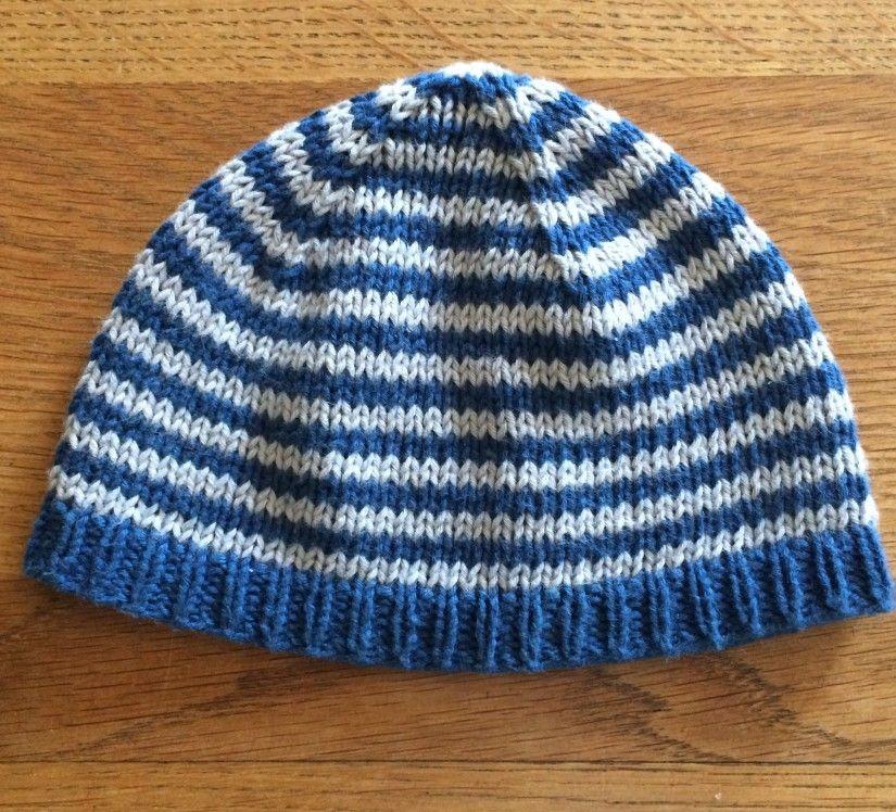 Geringelte Erstlings-Babymütze #bonnets