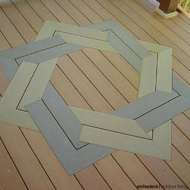 With Deck Boards Customized Patterns Are Unique And If Built Right Impressive Consider An Inlay Parquet Herringbone Or Chevron Layout