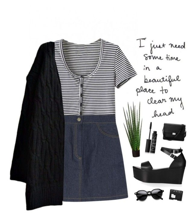 """""""if i go"""" by silvanacavero ❤ liked on Polyvore featuring Topshop, Aspinal of London, INDIE HAIR and NARS Cosmetics"""