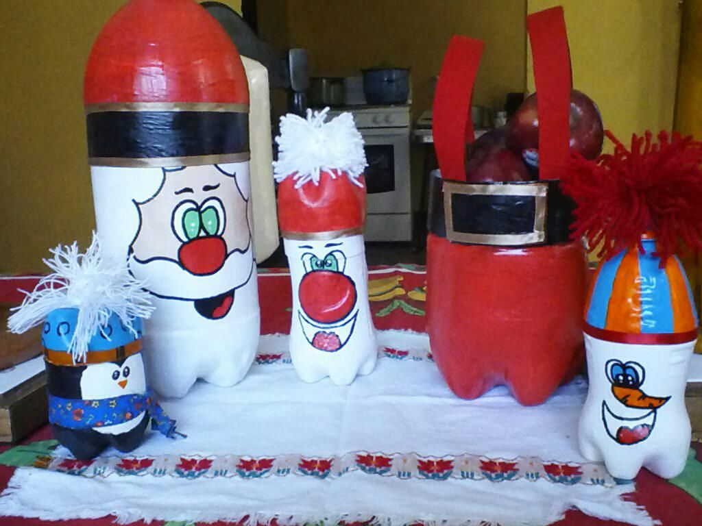 Adornos navide os con botellas pl sticas recicladas mis - Ideas adornos navidenos ...