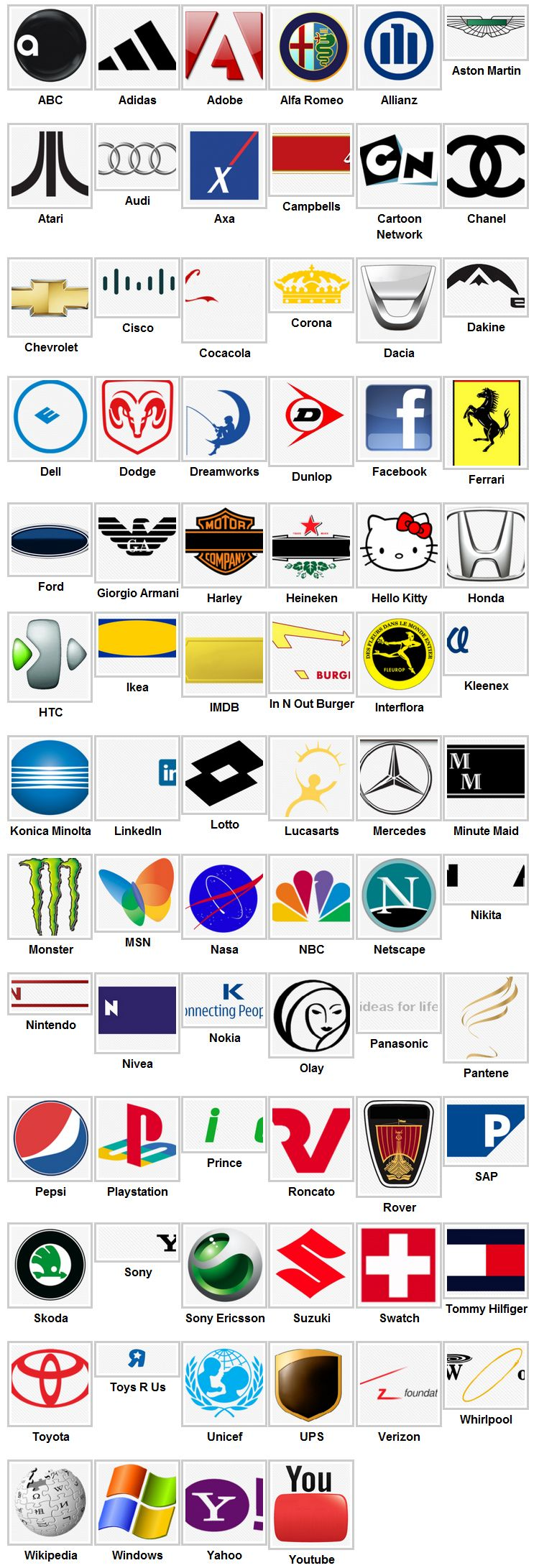 the gallery for gt web and tech logos quiz 2