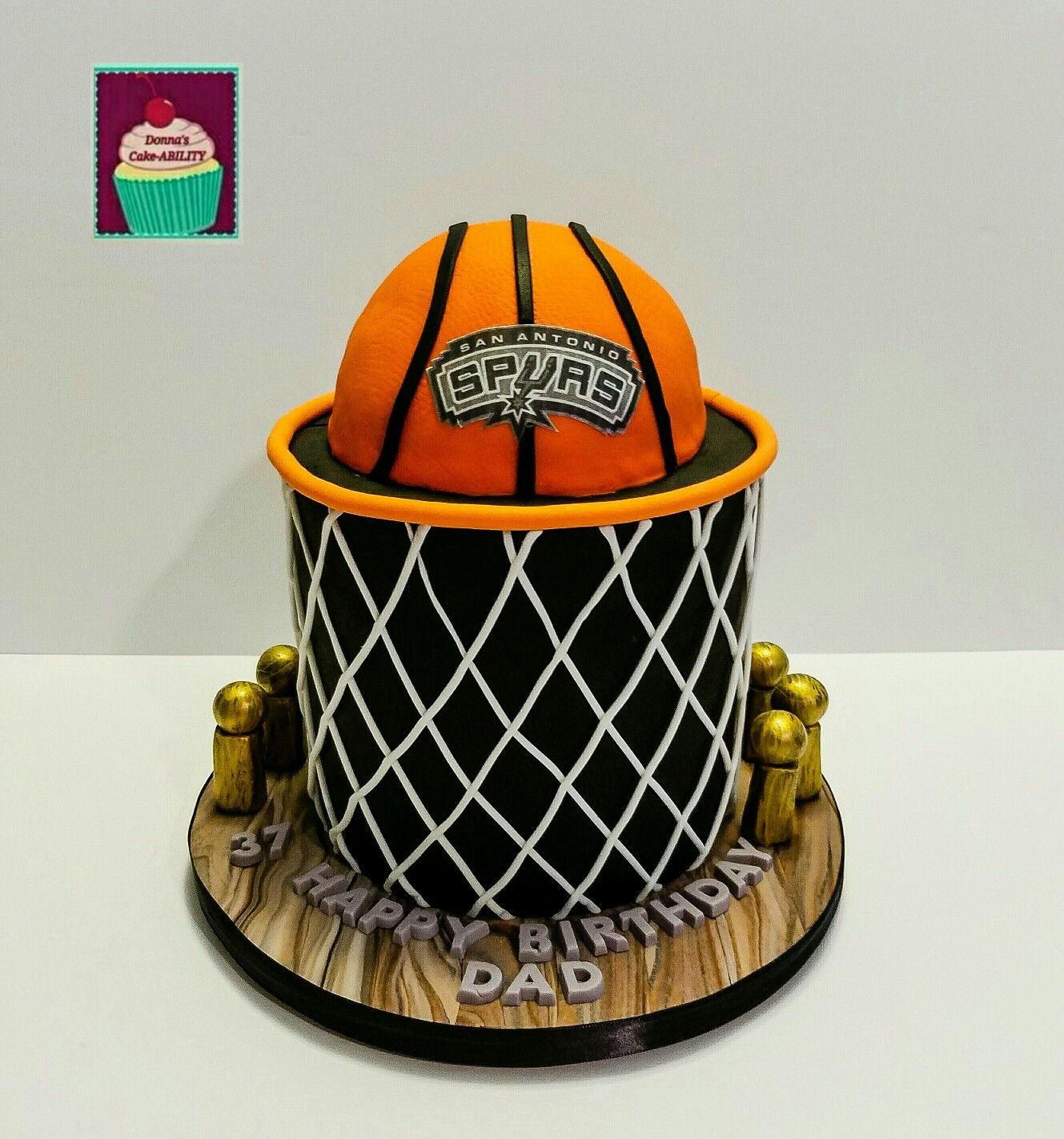 San Antonio Spurs Basketball Cake