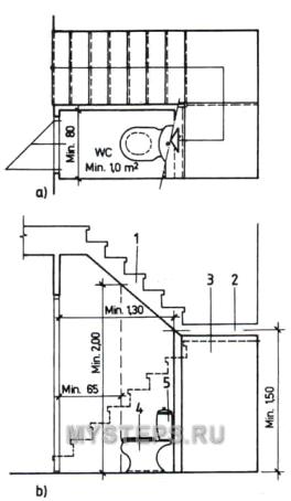 Stair for Bano bajo escalera planta