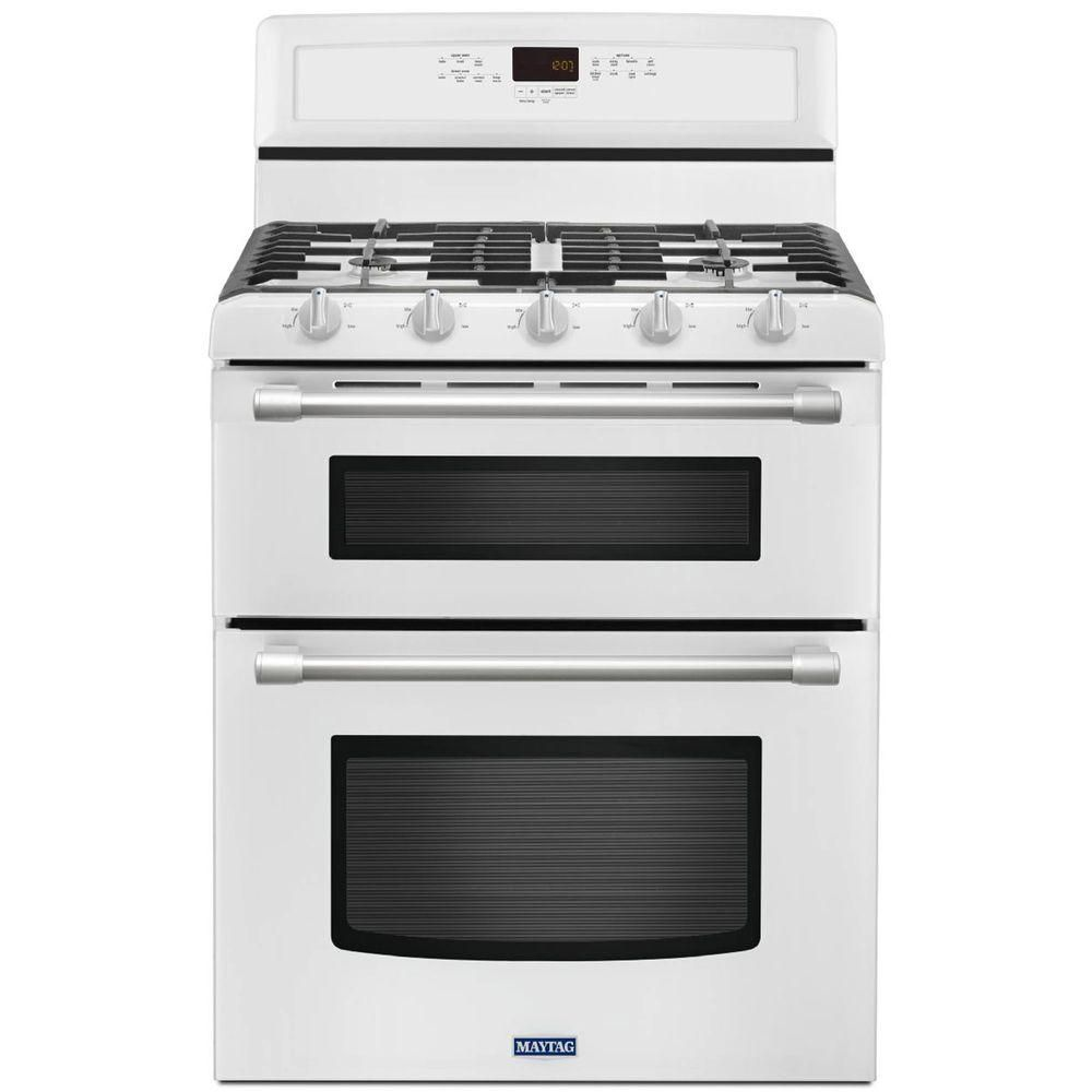 Maytag Gemini 6 0 Cu Ft Double Oven Gas Range With Self