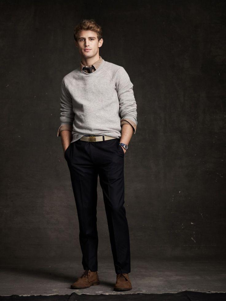 Collared Shirt Under Sweater Mens Fashion Mens Fashion