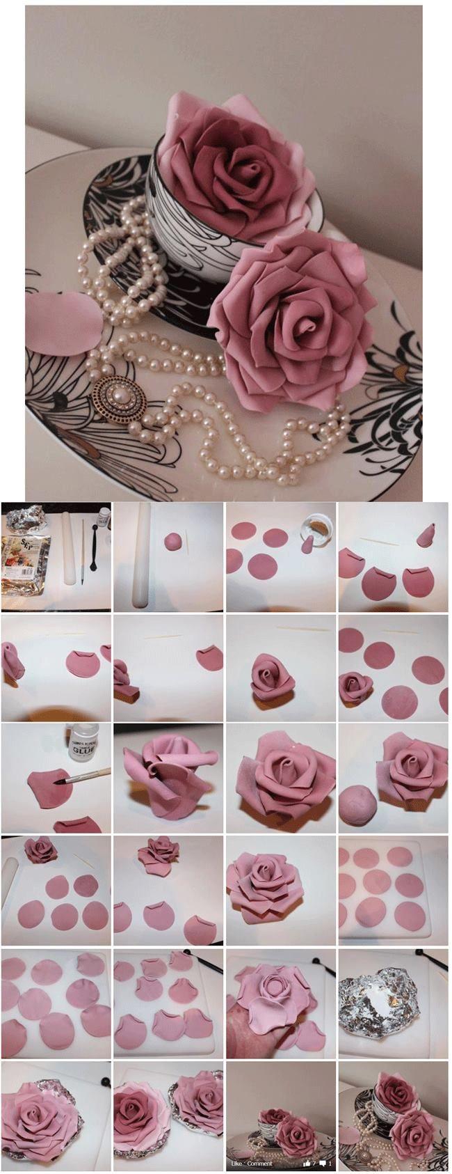 Pin by Ros sharp on Wedding cake | Fondant cakes, Fondant