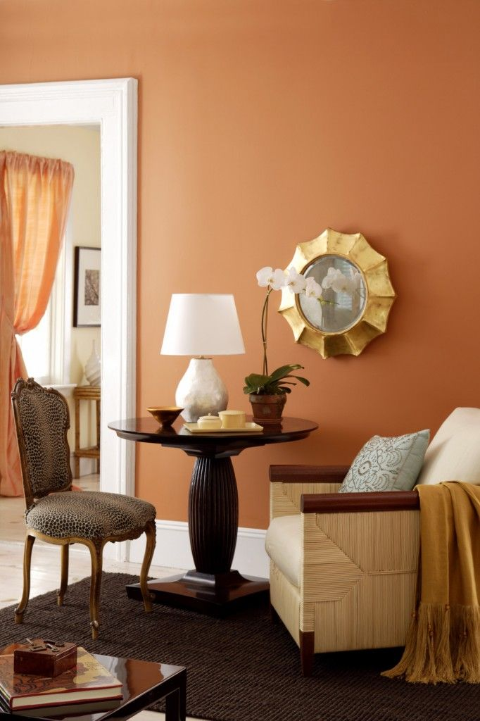 I M Craving Color Delectible Hues To Decorate Your Home Living Room Orange Living Room Decor Orange Living Room Colors