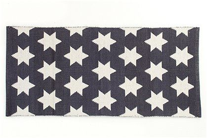 Car Möbel Teppich teppich große sterne grau weiß 65x135 car möbel wohnen in
