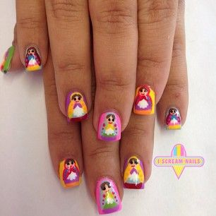 These Russian nesting dolls! | 29 Spectacular Nail Art Designs You Need In Your Life