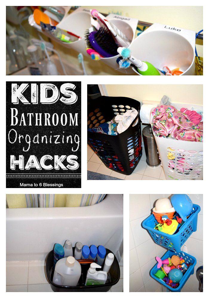 Kids Bathroom Organizing Hacks http://mamato5blessings.com/2016/09/kids-bathroom-organizing-hacks/