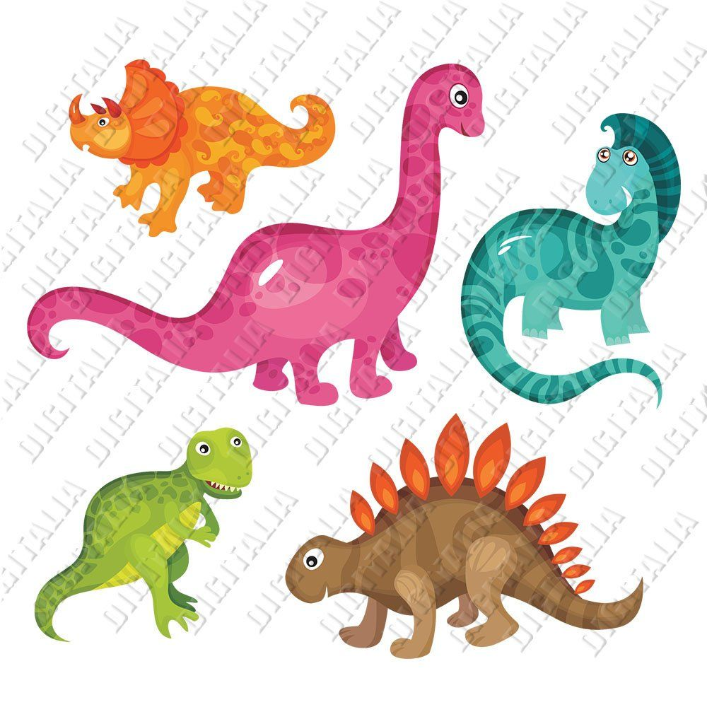 Cute Baby Dinosaur Bandle Clipart Dinosaur Svg Png With