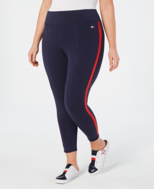 448cc1620a38c Plus Size Striped High-Rise Leggings in 2019 | Products | Tommy ...