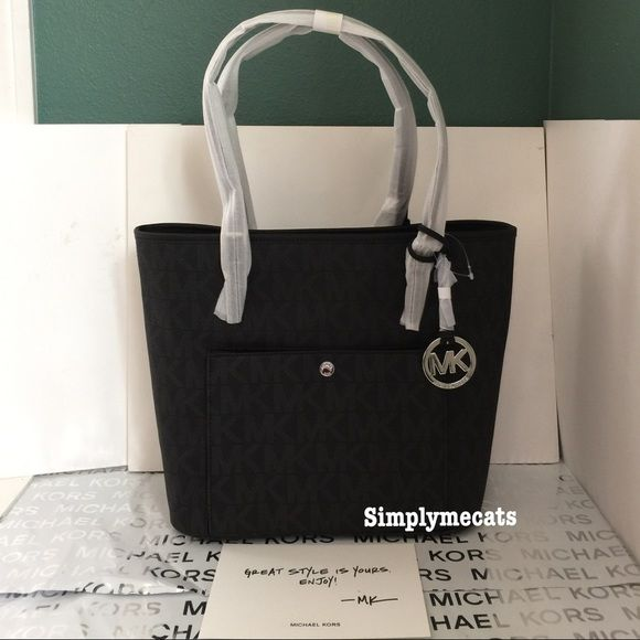7ad3aefd1017 FINAL PRICE MK JET SET TRAVEL LARGE LOGO TOTE ❤️100% authentic ...