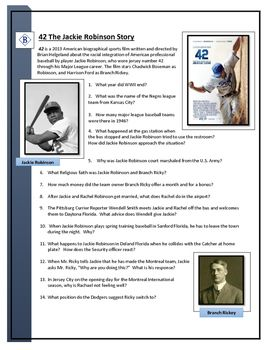 42 Jackie Robinson Movie Questions With Images Robinsons
