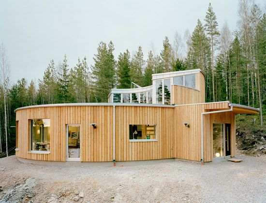 As Far As Passive House Plans Go This One By Swedish Architects Kjellgren Kaminsky Just Makes Sense Peopl Eco House Design Sustainable Architecture Eco House