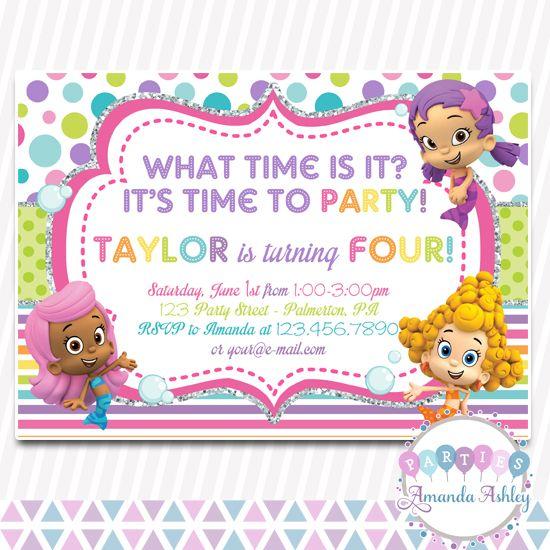 Bubble Guppies Birthday Invitation Birthday Invitations Pinterest