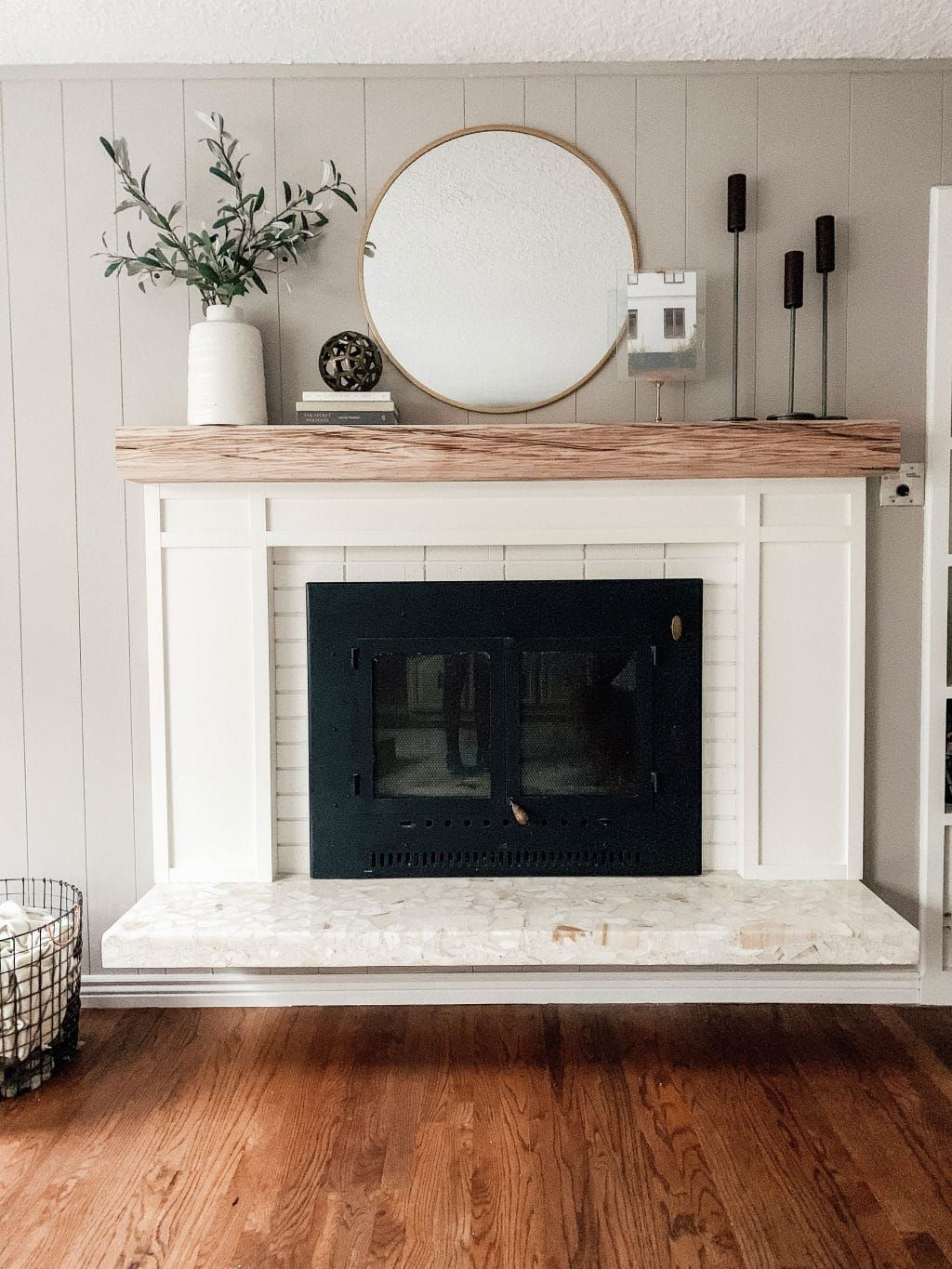 One-Day, $300 Fireplace Makeover
