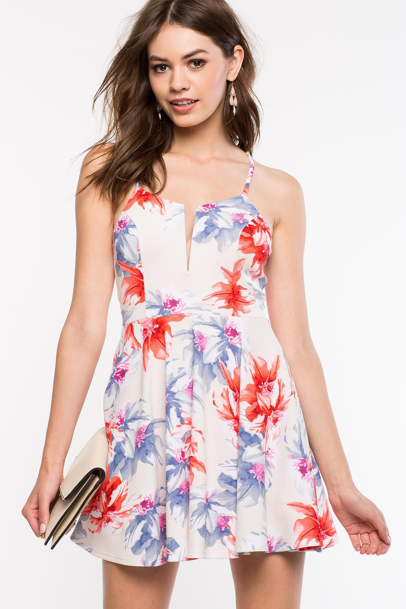 Women S Fit Amp Flare Dresses Spring Bloom Flare Dress A