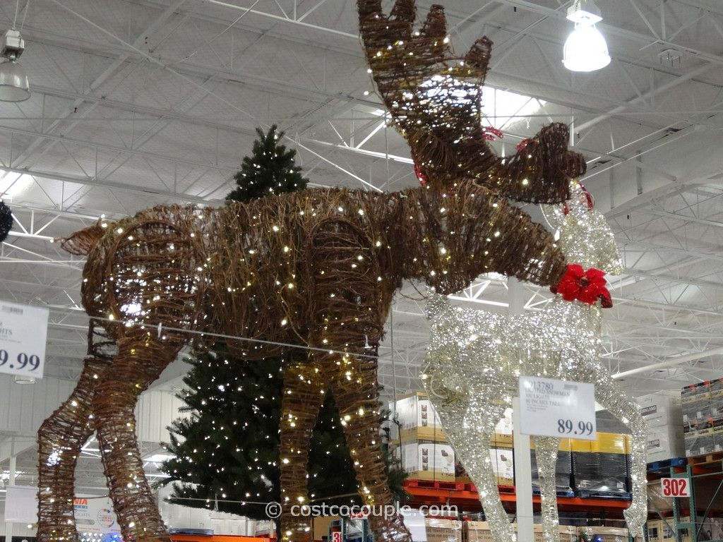 Philips 60 Inch Grapevine Moose Costco Christmas Decorations