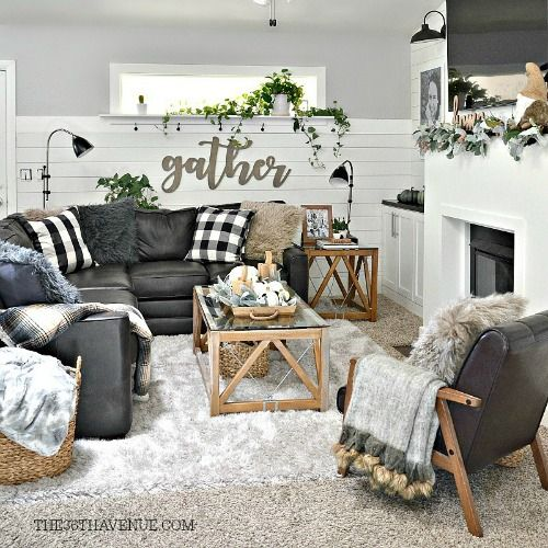 Industrial Farmhouse Living Room: Living Room Farmhouse Decor Ideas