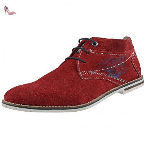 Bugatti Desert Boots Homme Rouge Rot Red 3000 45 Eu