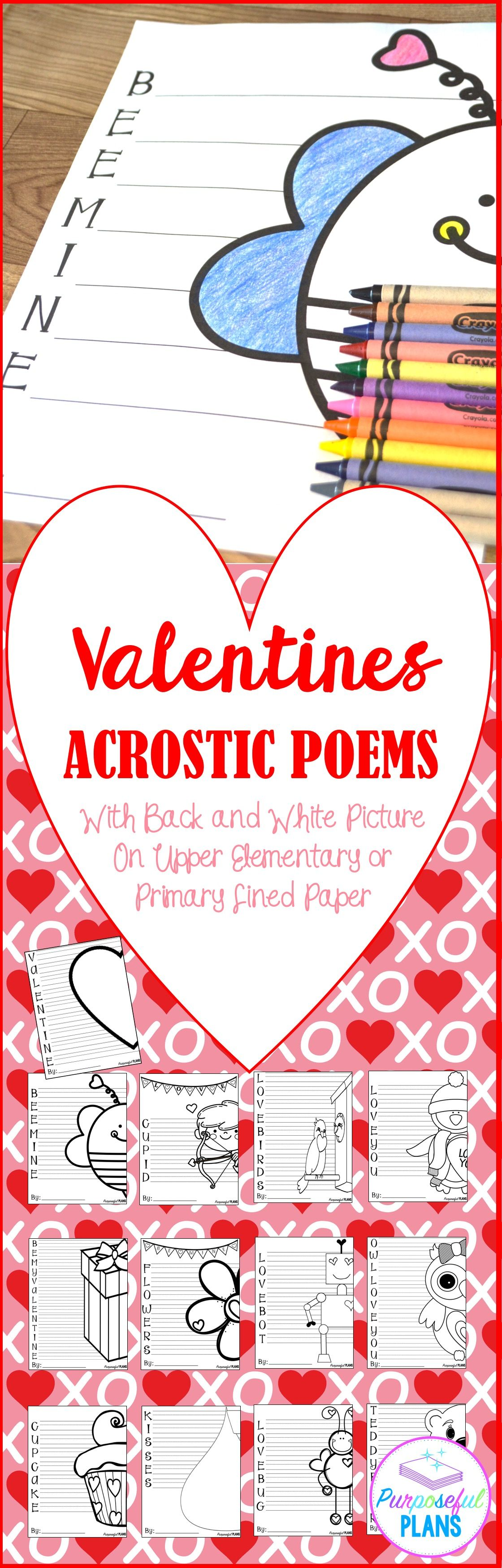 Valentine S Day Acrostic Poems