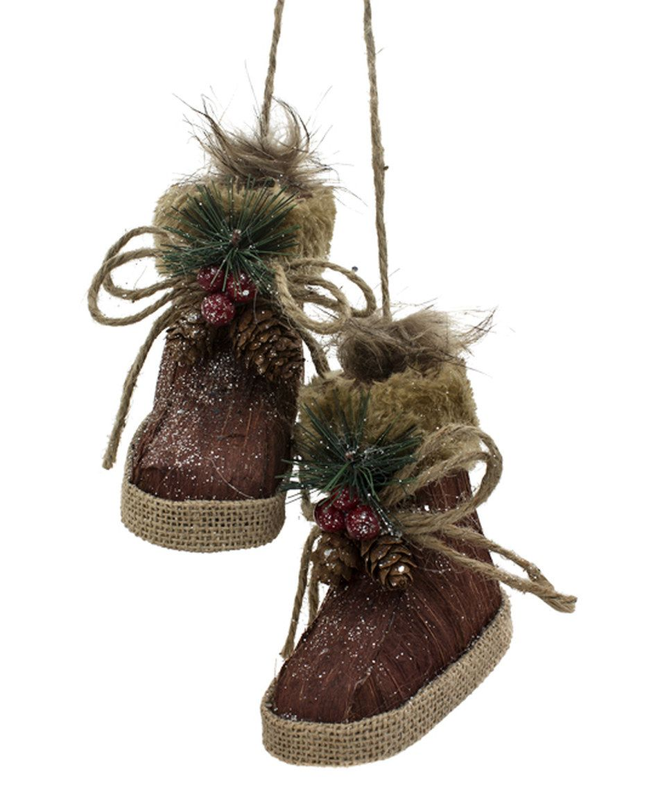 Woodsy Snow Shoes Ornament by WT Collection #zulily #zulilyfinds