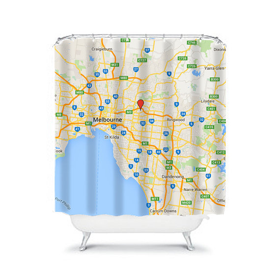 Custom Shower Curtain Map Personalized Curtains Kids Boys Showe