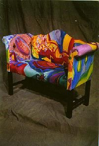 Wonderful Painted Sofa