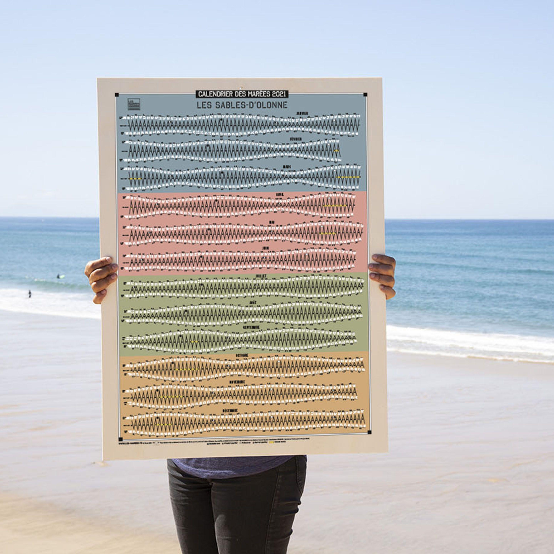 Calendrier Des Marées 2021 Les Sables Dolonne Le calendrier déco 2021 en 2020 | Calendrier des marées, Marée