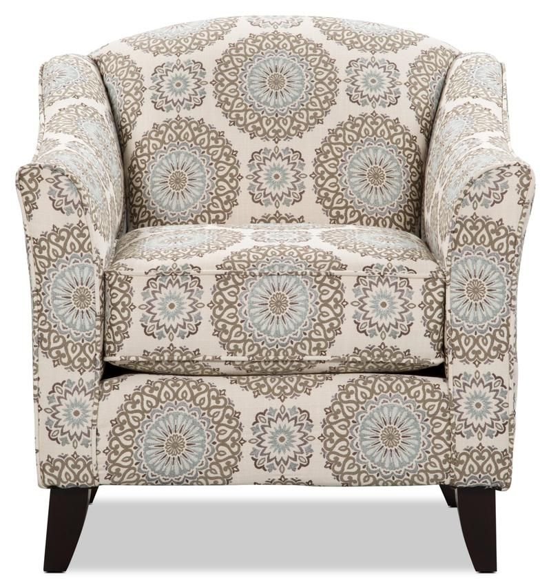 Tula Fabric Accent Chair Brianne Twilight With Images