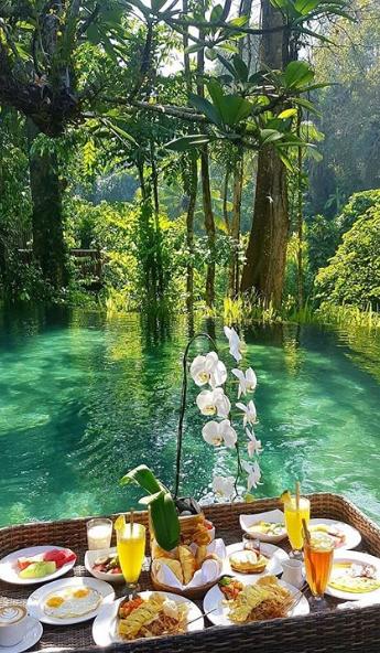 جزيرة بالي إندونيسيا Ubud Resort Vacation Trips Beautiful Sunrise