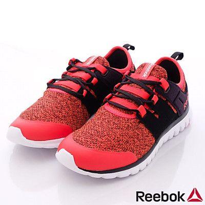 Reebok頂級童鞋-新創織紋運動款-M49544紅黑(大童段)HN