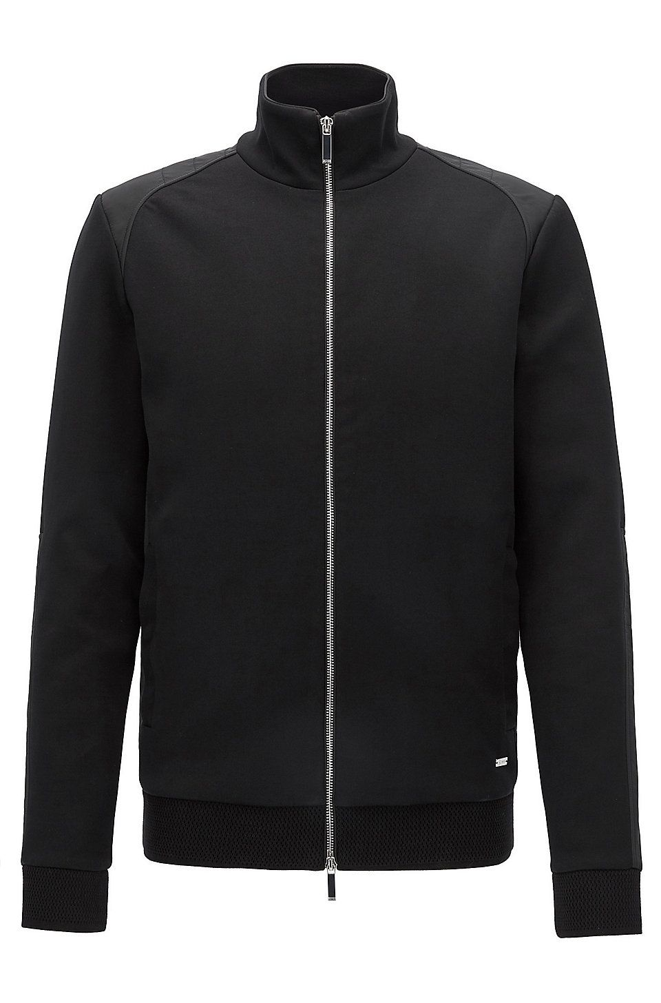 9ecbc502 Mercedes-Benz cotton-blend zip-through sweater - Black Sweaters and  Cardigans from BOSS for Men for £319.00 in the official HUGO BOSS Online  Store free ...