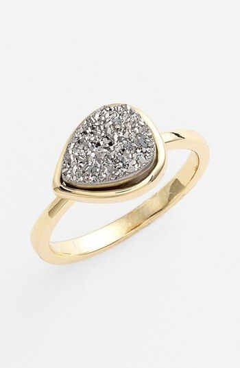 Marcia Moran Teardrop Drusy Ring (Online Only)   Happiness