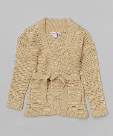 Look what I found on #zulily! Toasty Beige Circle-Knit Duster - Toddler & Girls #zulilyfinds