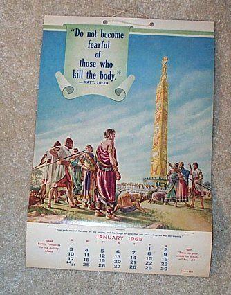 JW Calendar 1965