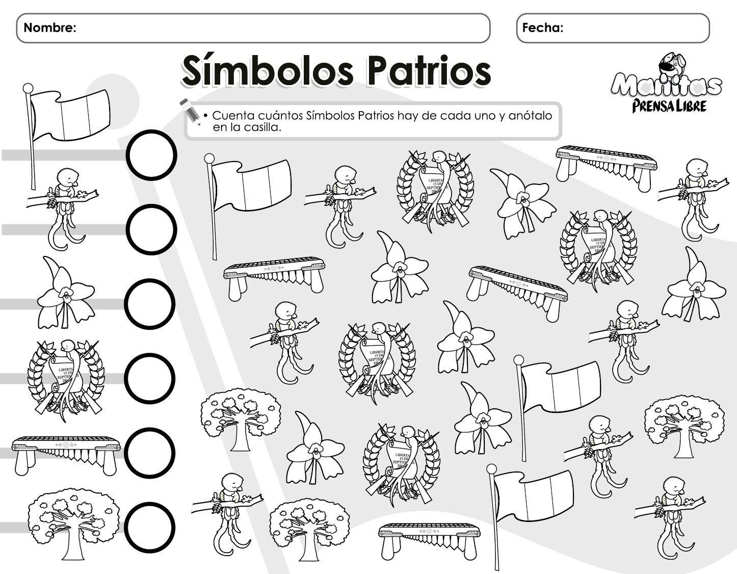 Resultado de imagen de hoja de trabajo de los simbolos patrios ...