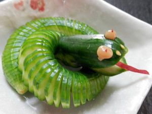 Fun Food Cucumber Snake Fun Food In 2019 Edible Food