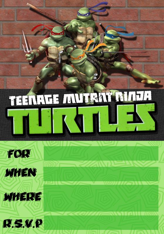 Tmnt Invite From Wonder Kids Cowabunga Party Ideas Ninja Turtle