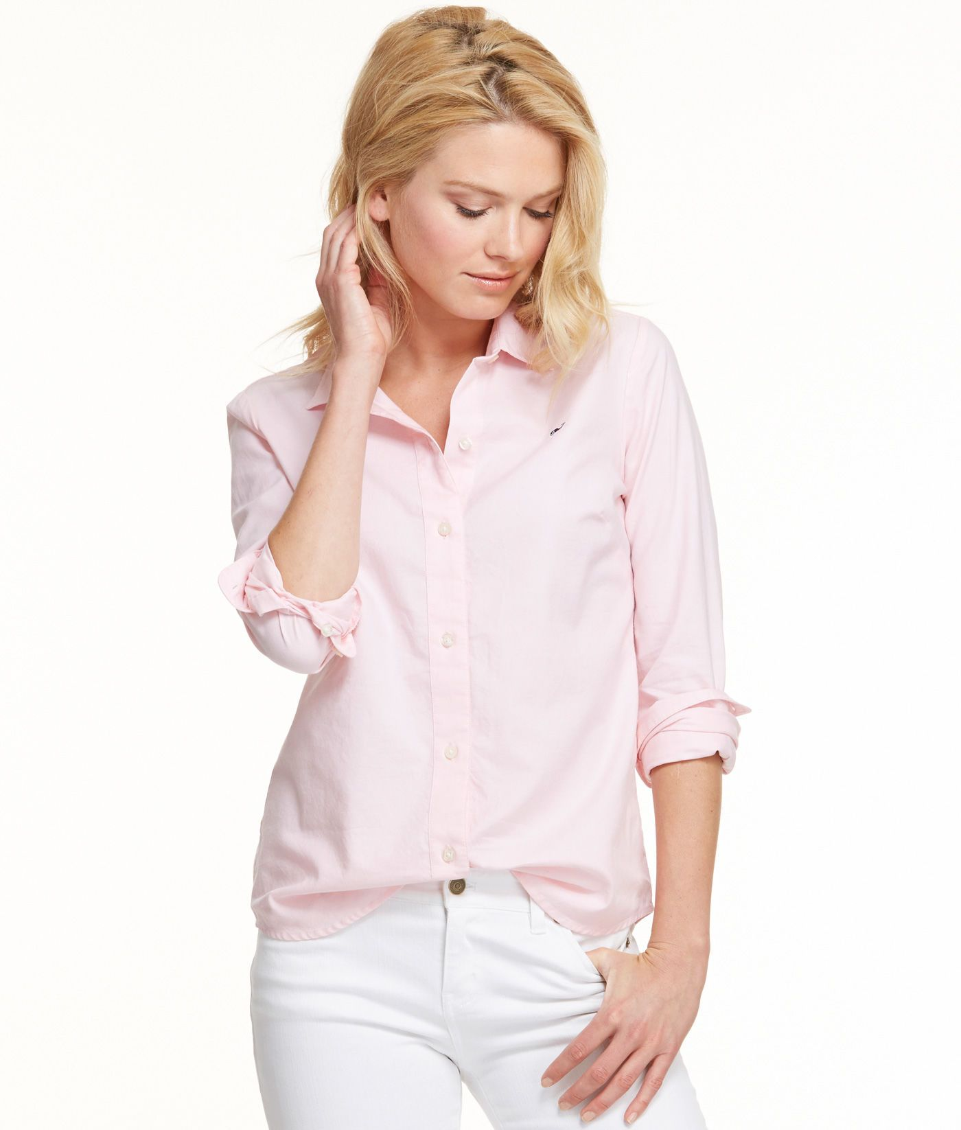 a0fc7f0d Women's Button down Shirts: White Oxford shirt for Women – Vineyard Vines