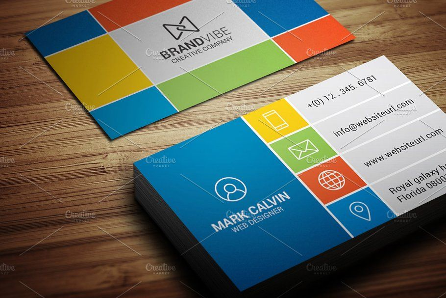 Creative Flat Metro Business Card MetroFlatCreativeTemplates