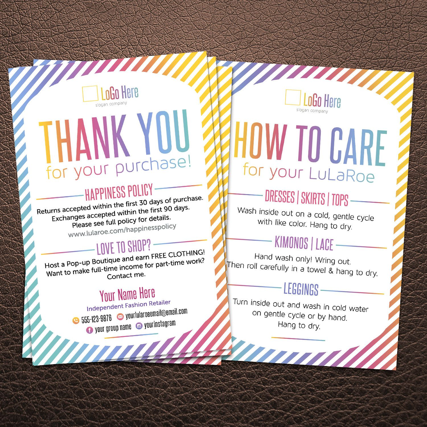 Thank you card care instructions card home office approved fonts thank you card care instructions card home office approved fonts color consultant retailer lula marketing thank you are card 6 reheart Choice Image