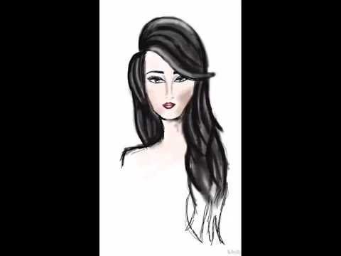 طريقة رسم وجه عارضة ازياء هبة زغلول