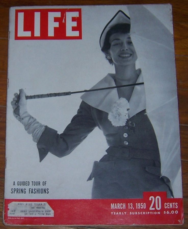 Dorian Leigh In Spring Fashions on cover